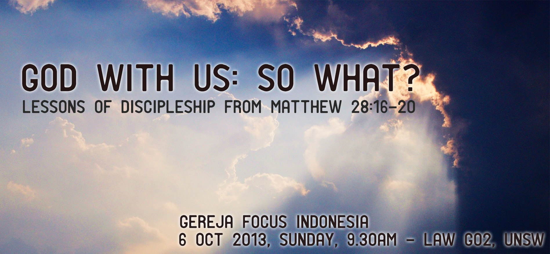 God with us so what